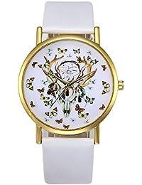 Relojes Pulsera Mujer, Xinan Retro Banda de Cuero de Aleación Analógica Cuarzo Reloj de Pulsera