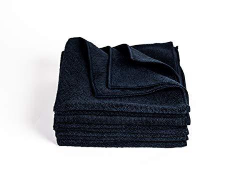 Clean 2 Microfasertuch Schwarz 5 er Pack,40 X 40 Microfasertücher 300g,Mikrofasertuch, Mikrofasertücher, Haushaltstücher, Poliertücher, Auto