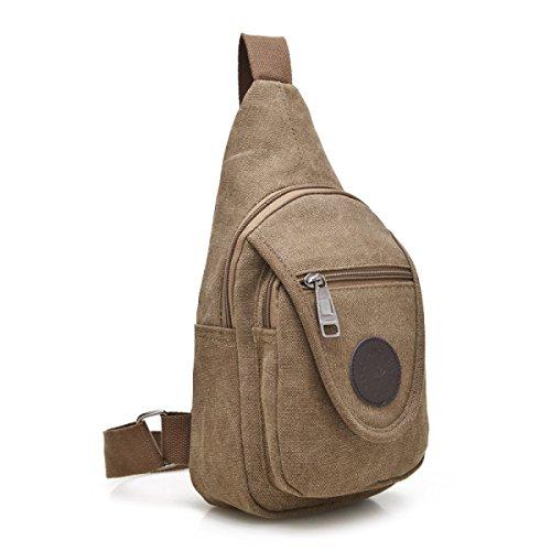 BULAGE Pack Brusttaschen Lässig Leinwand Reisen Multifunktional Männer Schulter Kleine Atmungsaktiv Personalisiert Einfach Zu Bedienen Bequem Brown