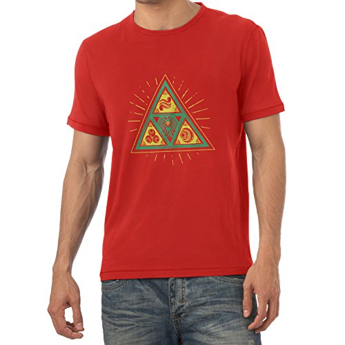 TEXLAB - Triforce Triangle - Herren T-Shirt Rot