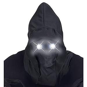 WIDMANN 07807Máscara Invisible Cara con Capucha y Bombilla Extremos Ojos, Color Negro, Talla única
