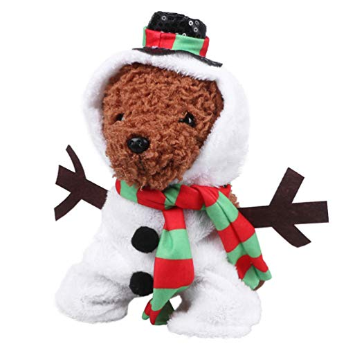 POPETPOP Costume da Cane Creativo Costume da Pupazzo di Neve Creativo Costumi Divertenti per Cani di Taglia Media e Grande - Animali Domestici Vestiti Cosplay di Natale di Halloween - Taglia XL