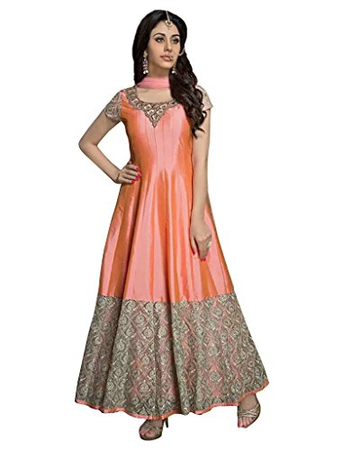 1 Stop Fashion Orange Banglori Anarkali
