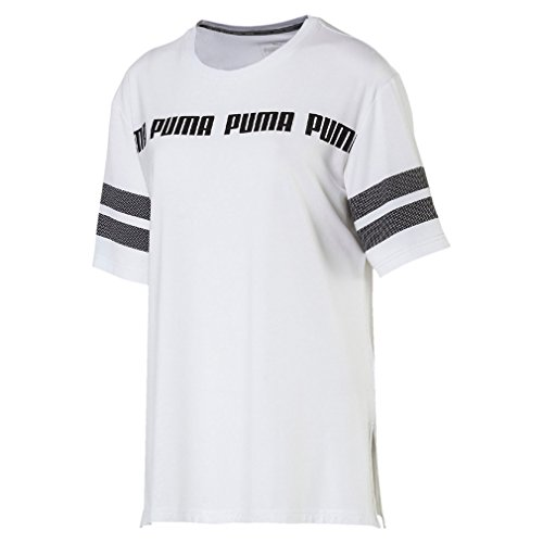 PUMA Women ACTIVE SWAGGER Fashion Tee T-shirt 593994 Weiss