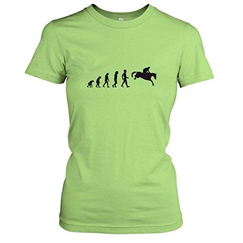 TEXLAB - Springreiten Evolution - Damen T-Shirt, Größe M, kiwi