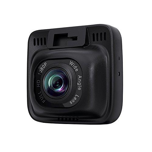 """AUKEY DashCam Mini, Full HD 1080P, Obiettivo Grandangolare di 170 Gradi, Registratore di Guida, Visione Notturna, 2,0"""" Schermo LCD, G-Sensore di Movimento, Supporto di Scheda Micro SD di 128GB (DR01)"""