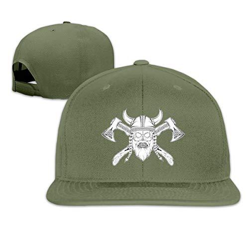 Osmykqe Helmet Men's Cap Summer Baseball Caps Snapback Hat Lightweight Soft Cotton Flat Cap Moss Tweed