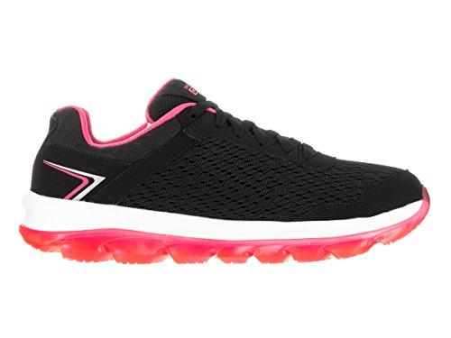 Skechers Go Air, Baskets Basses Femme Black/Hot Pink