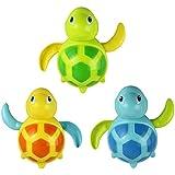 Tongshi Los bebés recién nacidos nadan juguete de baño pequeño animal cadena enrollada tortuga juguetes clásicos