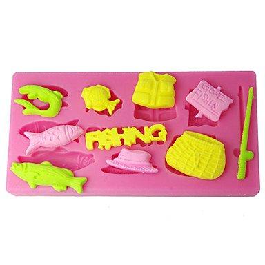 lllzz four-c Silikon Form Angeln Werkzeuge Kuchen Design Formen, Kuchen dekorieren Werkzeug Supplies, Fondant Dekoration Tools Farbe Pink - Ninja Turtles-silikon-form
