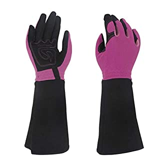 Gardening Gloves Professional Rose Pruning Thornproof with Extra Long Forearm Protection for Women Puncture Resistant Sleeve Garden Floral Gauntlet