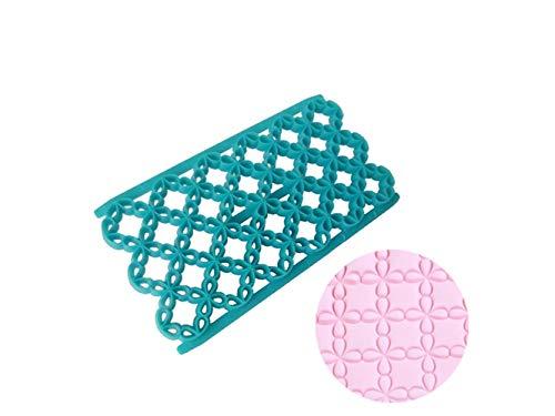 Yhcean suministros de cocina trifoglio a quattro foglie muffa per dolci fondente di plastica impasto per la decorazione di goffratura (blu) gadget per la casa