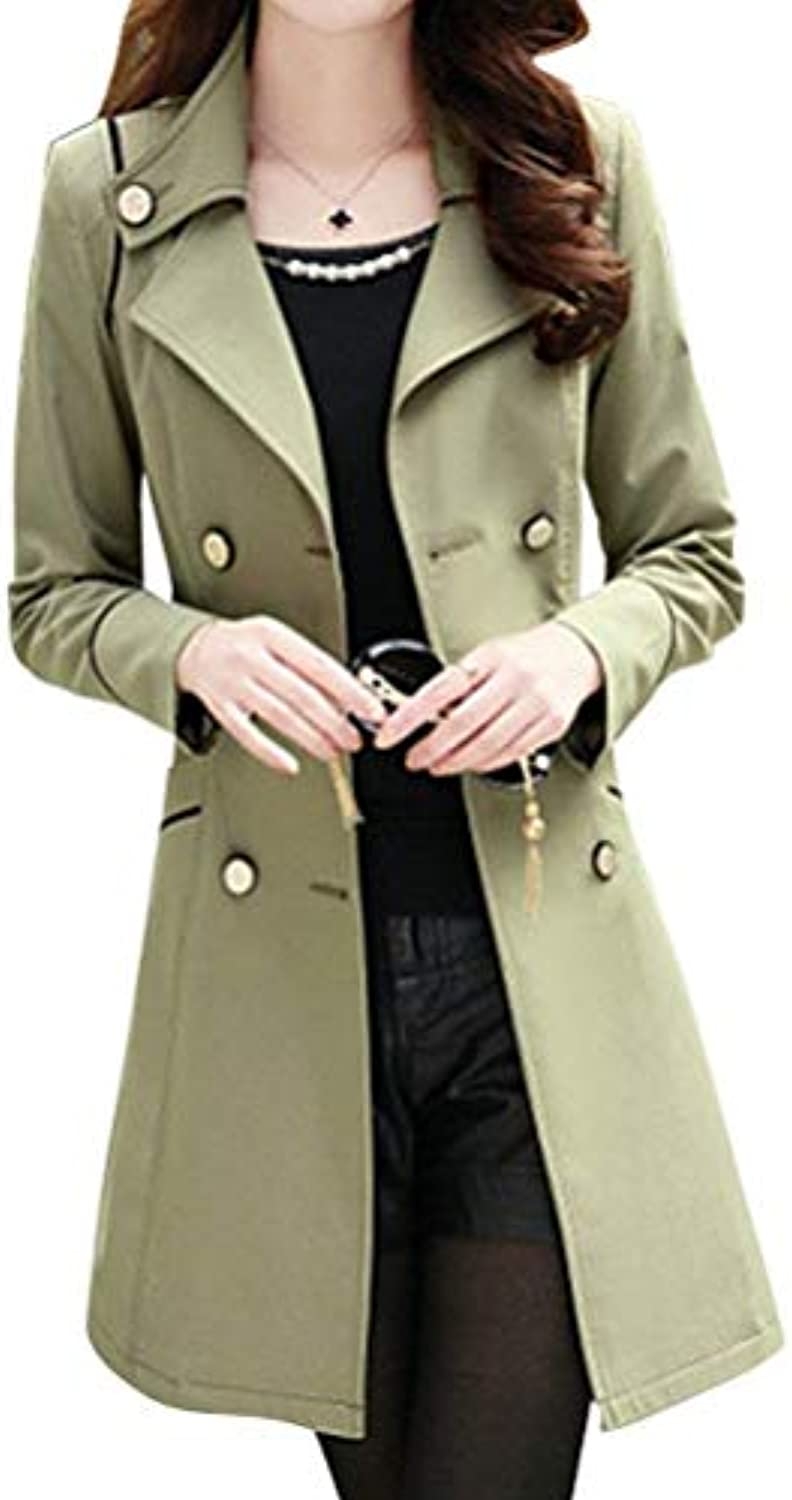 Parka Donna Moda Classiche Double Breasted Vintage Fit Giacche Primaverile  Autunno Lunga Slim Fit Vintage Trench Eleganti... 698f0f 6380af0db59