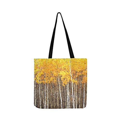 Schöne Aspen-Bäume Populus Tremuloides, der Segeltuch-Tote-Handtaschen-Schultertasche Crossbody-Taschen-Geldbörsen für Männer und Frauen Einkaufstasche zeigt -