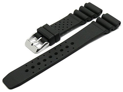 Meyhofer Uhrenarmband Atlantis 20mm schwarz Kautschuk MyBnskb01/20mm/schwarz/oN - Atlantis