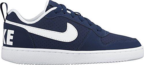 Nike - Jr Court Borough Mid Gs, Sneaker Unisex – Bambini Azul (Midnight Navy / White)