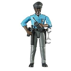 Bruder Hermano 60,051 - policía bworld con el Tipo de Piel Oscura y Accesorios - Minifigure