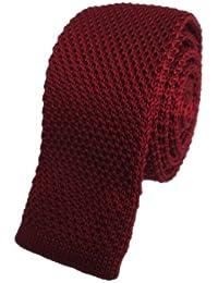 Burgundy Knitted Skinny Tie