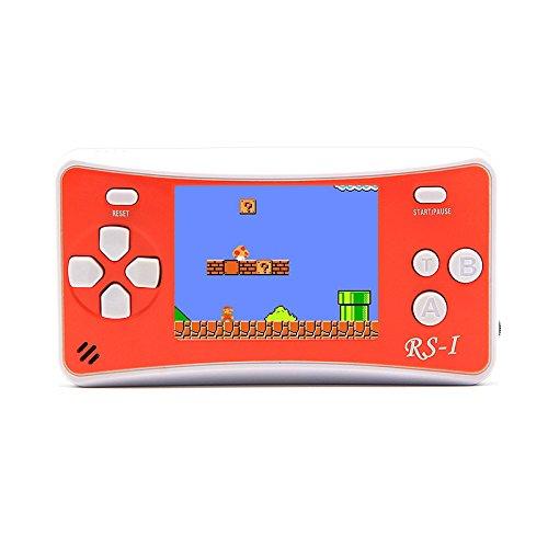 """NUEVO 8-16Bit retro 2.5 """"LCD 152 juegos diferentes Videojuegos Portátil de mano de la consola de apoyo de salida de cable AV (naranja) (Orange)"""