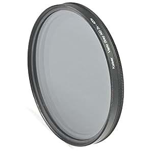 Kaiser vario filtre gris variable nD filter 49 mm-réglable supply nD2x nD400x iris (2–8)-avec capot de protection et adaptateur pour 46 mm 40,5 mm