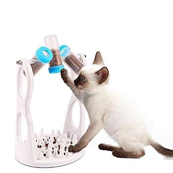FREESOO Distributeur de Nourriture pour Chat Jouet pour Animal de Compagnie Gamelle d'alimentation Lente Anti Glouton pour Chien et Chat