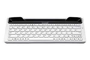 Samsung Original vollwertige Tastatur (QWERTZ) EKD-K14DWEGXEG (kompatibel mit Galaxy S3 / S3 LTE, Note 10.1) in weiß