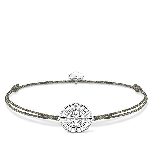 THOMAS SABO Damen Armband Little Secret Kompass Glaube, Liebe, Hoffnung 925er Sterlingsilber LS078-401-5