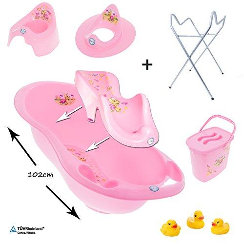 gofuture-7er-set-babybadewanne-102cm-badesitz-premium-stnder-tpfchen-wc-sitz-eimer-3-badeenten-schil