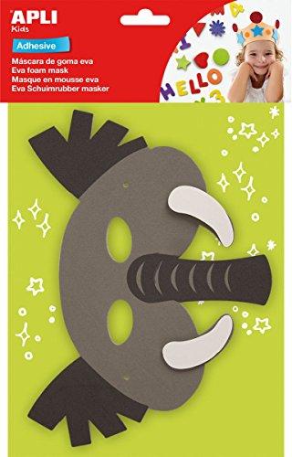 Máscara goma eva Elefante