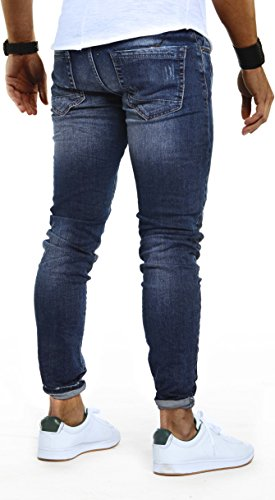 LEIF NELSON Herren Hose Jeans Stretch Jeanshose Freizeithose Denim Slim Fit LN9910 Blau