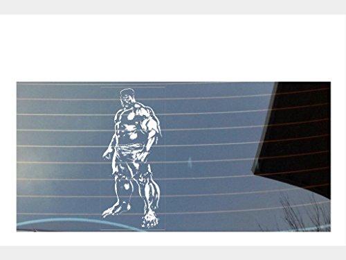Image of Hulk, marvel avengers car window sticker - white