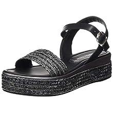 MARCO TOZZI Women's 2-2-28394-24 Ankle Strap Sandals, Black (Black Comb 098), 6 UK