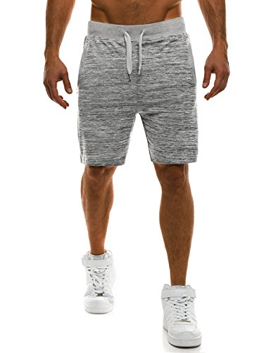 OZONEE Herren Jogg Freizeitshorts Sportshorts Knielang Kurze Hose Shorts Bermudas J.STYLE AK01