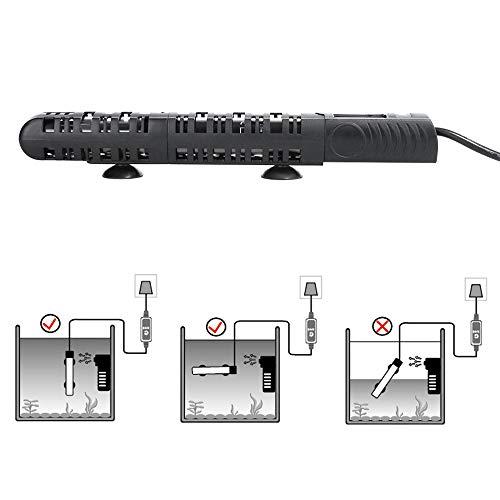 Miss Morgen 50-500 Watt LED Aquarium Heizung Regelheizer, Fischbecken Heizvorrichtungen, Temperatur einstellbar Heizstab von 20°C bis 34°C, Thermostat Heater Aquarium Warmwasserbereiter (50W) (500w Heizstab)