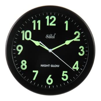 Buy Rhythm Value Added Radium Wall Clock Super Luminous