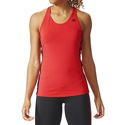 Adidas Débardeur pour femme BASIC 3-Stripes Rouge/Noir
