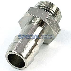 "3/8"" Thread Barbed Fitting for 1/2"" (12mm) ID Tubing with O-Ring : Silver"
