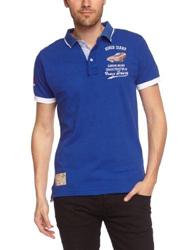 Gangster Unit Herren Polo Shirt Blau - Bleu (Royal)