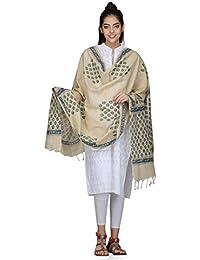 The Weave Traveller Handloom Hand Block Printed Cotton Dupatta For Women's Girl's
