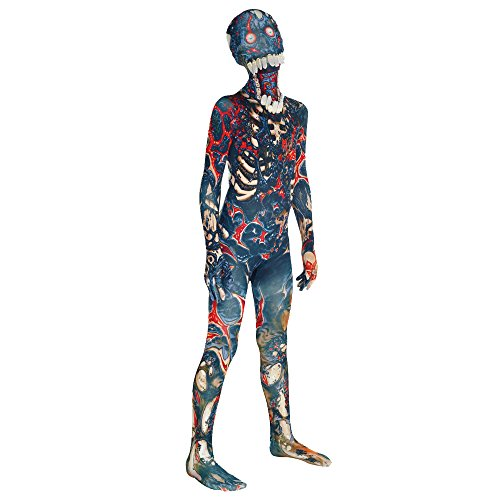 Morphsuits Bambino Jaw Dropper Burnt Zombie Verde M Incredibile Travestimento Originale Horror Halloween
