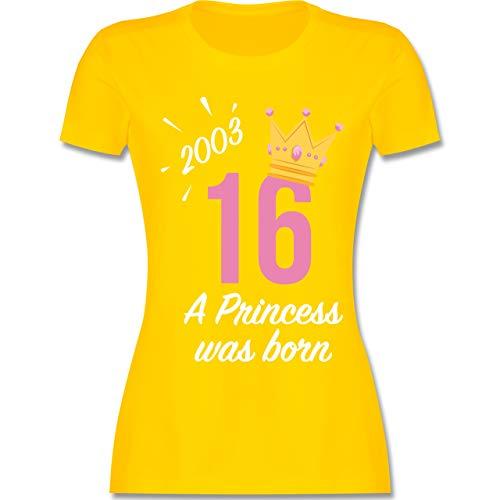 Geburtstag - 16 Geburtstag Mädchen Princess 2003 - M - Gelb - L191 - Damen Tshirt und Frauen T-Shirt (Süß Ideen 16 Geburtstag)