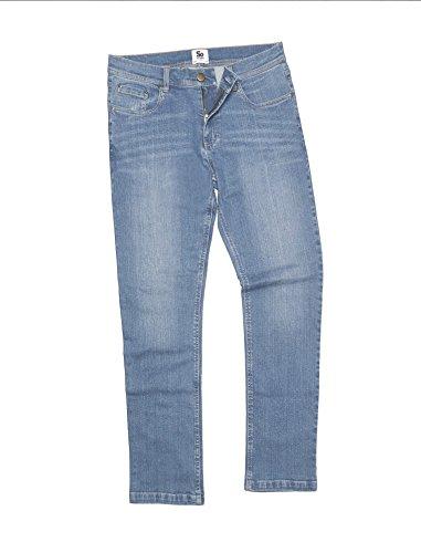 Leo gerade Jeans erhältlich in 3Farbe Optionen Blau - Light Blue Wash
