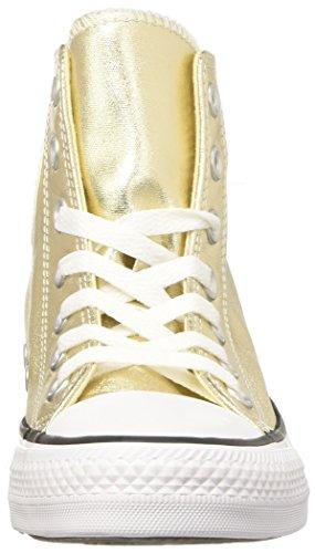 Converse Ctas Hi, Sneaker a Collo Alto Donna Oro (Light Gold/White/Black)
