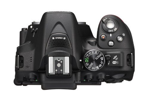 Nikon D5300 SLR-Digitalkamera (24,2 Megapixel, 8,1 cm (3,2 Zoll) LCD-Display, Full HD, HDMI, WiFi, GPS, AF-System mit 39 Messfeldern) nur Gehäuse schwarz -