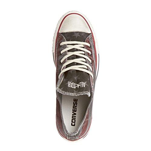 Converse Chuck Taylor All Star Washed Shoes - Turtledove/Chili Pepper Grau 8roggu