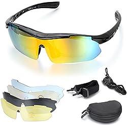 Aroncent Polarisierte Fahrradbrille Radfahren Sportbrille Sonnenbrille Schutzbrille UV 400 Outdoor Sport Schwarz Rahmen