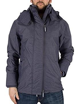 Superdry Hombre Tech capucha Cazadora chaqueta con cremallera, Azul