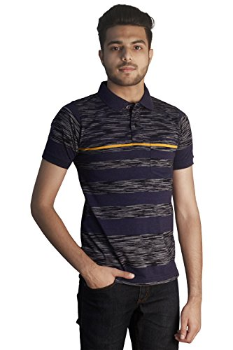 Tapasya Slub Navy Polo T-Shirt