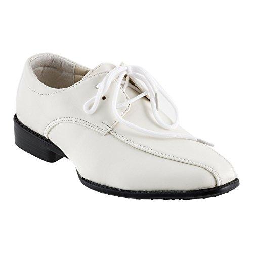 SCHUH FÄLLT CA 2 NUMMERN GRÖSSER AUS , Chaussures de ville à lacets pour garçon - (#545 Schnürer Weiss)