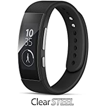 Sony SmartBand Talk SWR30 Screen Protector, BoxWave® [ClearSteel (2-Pack)] Strong as Steel, Lightweight Clear Skin for Sony SmartBand Talk SWR30